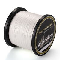 8 Strands White Super Power TOP Dyneema Braid Fishing Line 100M 300M 500M 1000M