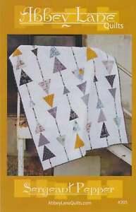 "Sergeant Pepper Quilt Kit, Pattern & Fabrics for Quilt Top Binding 60"" x 72"" DIY"