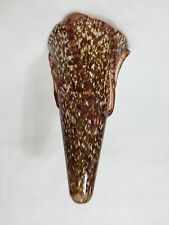 "Murano Conicity Art Glass Brown Amber Pendant Light Shade, 14 1/4"" Tall x 8"" Dia"
