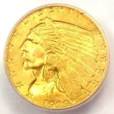 1929 Indian Gold Quarter Eagle $2.50 Coin - Certified ICG MS65 - $2,840 Value!
