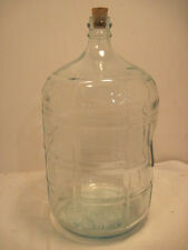 OLD 5 GALLON WINE  WATER  GLASS JUG  NICE BANK AQUIRUM