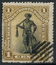 North Borneo 1894 SG#66, 1c Dyak Chief P14.5-15 Cto Used #D10193