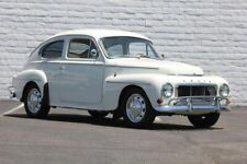 1965 Volvo 544 Coupe, WHITE, Flat Flexible Refrigerator Magnet, 40 Mil thick