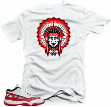 Shirt to match  Air Jordan Retro 11 Low IE Gym Red Sneakers Chief 11 White