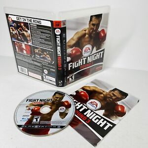 FIGHT NIGHT ROUND 3 (PlayStation 3, 2006) PS3 Complete w Manual - Tested & WORKS