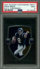 2001 playoff contenders r.o.y. contender #roy7 DREW BREES rookie (POP 1) PSA 9