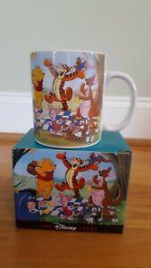 NIB Vintage Winnie the Pooh Picnic Mug,Piglet, Eeyore, Tigger, Rabbit & Friends