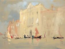HERCULES BRABAZON BRITISH GONDOLAS BEFORE PALACE VENICE ART PRINT BB5683A