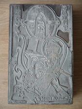 Plaque d'imprimerie Verdun - Saint Benoit - signée Dante DONZELLI , vers 1960