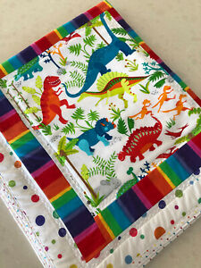 Handmade Baby baby Gift play, floor roll  Blanket/Quilted  Dinosaurs