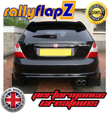 Rear Mudflaps Honda Civic Type R ep3 (01-07) Mud Flaps Plain Black 4mm PVC x 2