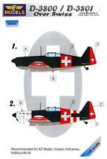 LF Models 1/48 MORANE SAULNIER MS D-3800 OVER SWITZERLAND Camouflage Paint Mask