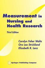 Measurement in Nursing and Health Research by Ora Strickland, Carolyn Feher...