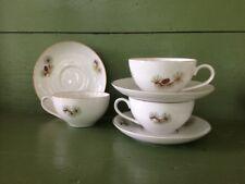 3 Fukagawa Arita PINE CONE Pattern 904 * Cups & Saucers * Hand Painted