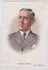 PRESIDENT WILSON BDV Cigarettes auf Seide. Godfrey Philips Ltd 1900-1948 RAR