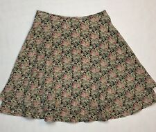 Exact Change Flare A-Line Skirt Women Size 5 Summer Floral Double Layer Flowy