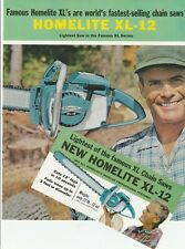 Rare Homelite Chainsaw Xl-12 Foldout Brochure Pamphlet