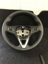 2015 On VAUXHALL CORSA E Multifunctional 3 Spoke Black Leather Steering Wheel