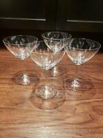 Vintage Etched CRYSTAL Cocktail - Martini Glasses, Set of 4