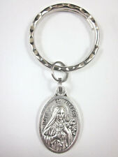 St Therese of Lisieux Medal Italy Key Ring Gift Box & Prayer Card