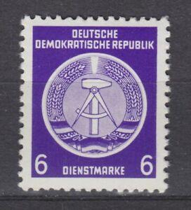 DDR Dienst A 2 X II: 6 Pf. Dienstmarke für Verwaltungspost, WZ X II, postfrisch