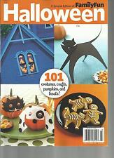 FAMILY FUN, A SPECIAL EDITION OF HALLOWEEN,101 COSTUMES,CRAFTS,PUMPKINS & TREATS