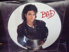 MICHAEL JACKSON BAD PICTURE DISC RECORD LP