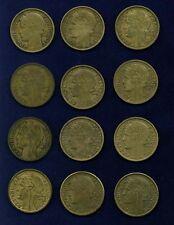 FRANCE 2 FRANCS COINS: 1931(2),1932,1933,1936,1937,1938