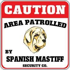 Crossing Sign Caution Patrolled Spanish Mastiff Dog Security Cross Xing Metal