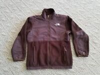 TNF THE NORTH FACE GIRLS HEAVY FLEECE JACKET COLOR BROWN SIZE LARGE L HIKE SKI