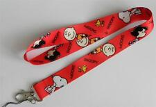 MOBILE PHONE/IDENTITY CARD LANYARD NECK STRAP SNOOPY RED