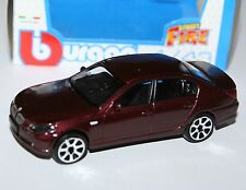 Burago - BMW 545i (Metallic Burgundy) - 'Street Fire' Model Scale 1:43