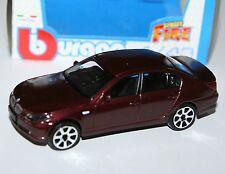 Burago - BMW 545i (Metallic Burgundy) - 'Street Fire' Model Scale 1:43