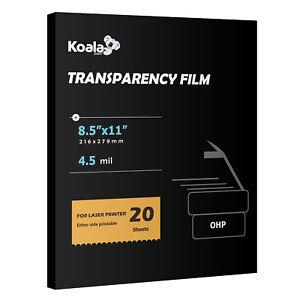 Koala Clear Transparency OHP Film Overhead Projector for Laser & Inkjet 8.5x11