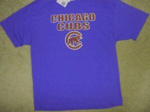 NWT! GENUINE MAJESTIC CHICAGO CUBS SHORT SLEEVE MLB SHIRT MENS L