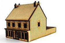 WWS 00 Viktorianischer Laden mit Hinterhaus - Lasergeschnitten, MDF, Landschaft