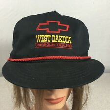 Vintage West Dakota Chevy Chevrolet Truckers Farmers Cap Hat Snap Back Mesh Usa
