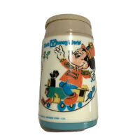 Vintage Disney Mickey Mouse Thermos Cup Aladdin Plastic 1980s Park Train
