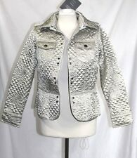 Motto - XS - NWT - Shimmery Champaign Beige Quilted - Clasp Close Jacket