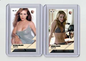 Alyssa Milano rare MH VaPer #'d 2/3 Tobacco card no. 27