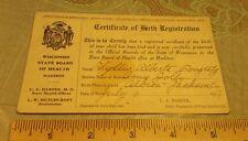 PC Certificate Birth Registration Wisconsin Health Albion Black River Falls WI
