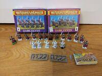 1996 Warhammer WFB 18x Dark Elves Boxed Rare OOP Plastic Swordsmen GW Free P&P