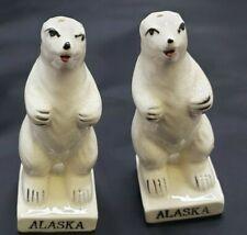 Alaska Polar Bear Salt and Pepper Shakers Nature Tourist Glacier