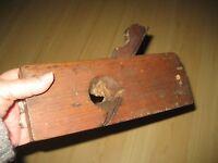 """Antique Vtg 9"""" Wooden WOOD MOULDING PLANE Carpentry Tool 1 1/2"""" Blade Planer"""