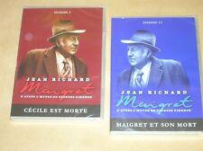 LOT 2 DVD SERIE / MAIGRET/ JEAN RICHARD / MAIGRET ET SON MORT + CECILE EST MORTE