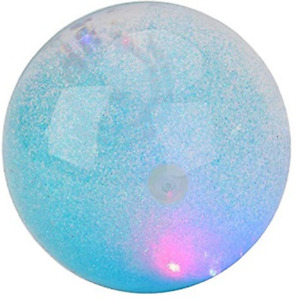 LIGHT UP BOUNCE WATER BALL WITH GLITTER - TY2107 FLASHING LED FIRM BOUNCY FUN