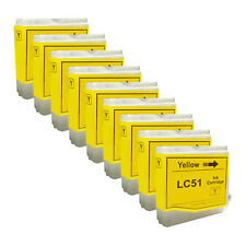 9 YELLOW New LC51 Ink Cartridge for Brother MFC-230C MFC-235C MFC-240C MFC-260C