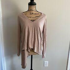 BCBGMAXAZRIA Womens Size Medium Long Sleeve Deep V Neck Shirt EUC