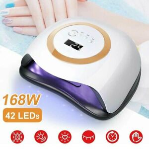 168W LED UV Nagel Lampe Gel Lichthärtungsgerät Sensor Nageltrockner mit 4 Timer