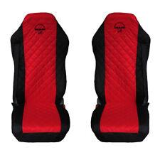 MAN TGA , TGL , TGM , TGS , TGX Truck Seat Covers 2 pieces BLACK AND RED